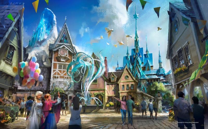 Visuel créé pour le projet de Tokyo Disneyland.