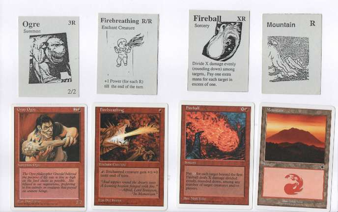 Prototype de carte Magic.[© Hasbro/Wizards of the Coast]