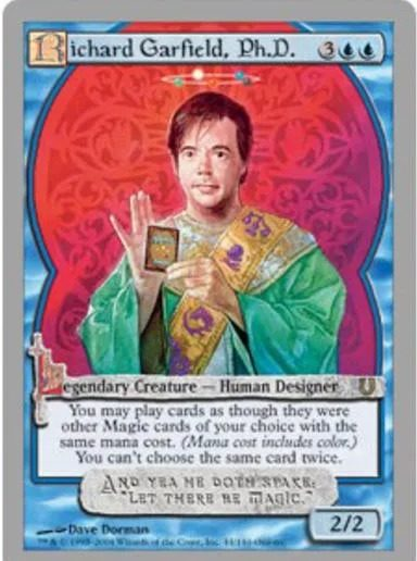 Richard Garfield représenté en carte.[© Hasbro/Wizards of the Coast]